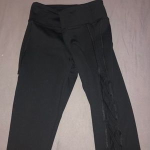 Sexy black leggings -open sides,  Worn once